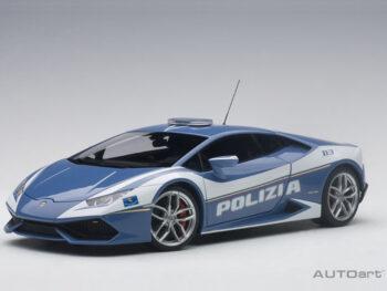 AUTOart 74609 Lamborghini Huracan LP-610 Police Car 1:18 Blue