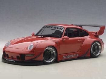 AUTOart 78153 Porsche RWB 993 1:18 Red with Gun Grey Wheels