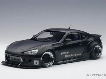 AUTOart 78755 Rocket Bunny Toyota 86 1:18 Matte Black with Black Wheels