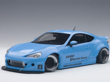 AUTOart 78758 Rocket Bunny Toyota 86 1:18 Metallic Sky Blue with Black Wheels