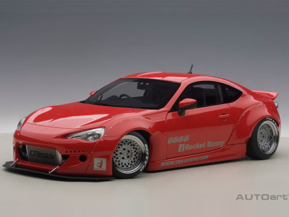 AUTOart 78757 Rocket Bunny Toyota 86 1:18 Red with Silver Wheels
