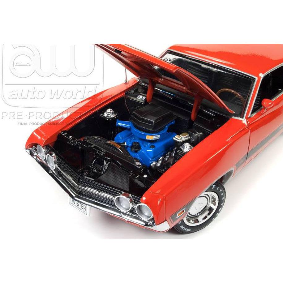 Home Make Ford Autoworld Amm  Ford Torino Cobra Twister  Calypso Coral Orange