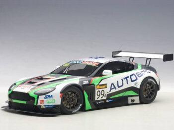 AUTOart 81507 Aston Martin V12 Vantage Bathurst 12 Hour Endurance Race 2015 #99 1:18 Green