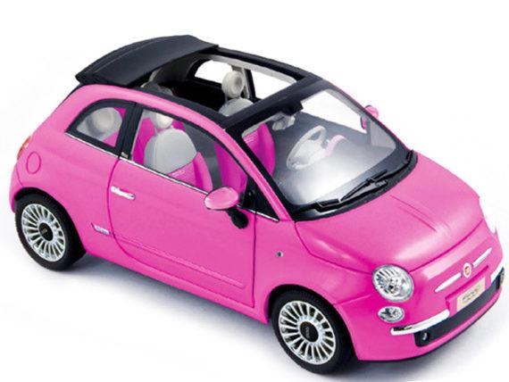 Norev 187752 2010 Fiat 500 C Cabrio 1:18 Pink