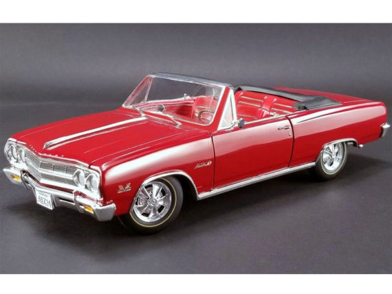 Acme A1805306 1965 Chevrolet Malibu Chevelle SS Z1 Convertible 1:18 Red