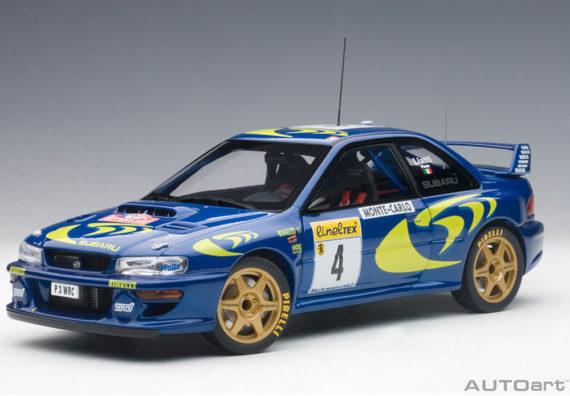 AUTOart 89791 2015 Subaru Impreza WRC 1997 #4 Rally Of Monte Carlo 1:18 Piero Liatti / Fabriziapons Blue