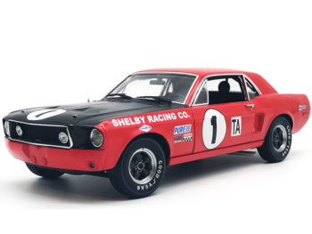 Acme Greenlight 12988 1968 Ford Shelby GT 350 Mustang #1 1:18 Jerry Titus Red