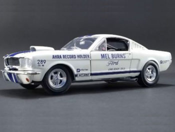 Acme A1801811 Mel Burns 1965 Drag Shelby GT 350 Ahra Record Holder 1:18 White