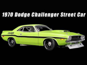 Acme A1806001 B 1970 Dodge Challenger Trans Am Street Version 1:18 Green