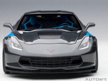 AUTOart 71272 Chevrolet Corvette Grand Sport 1:18 Grey / Blue Fender Hash Marks