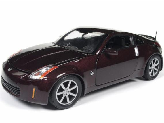Autoworld Aw240 2003 Nissan 350 Z 1:18 Brickyard Red Metallic