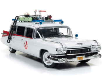 Autoworld AWSS118 Ghostbusters 1 Movie 1959 Cadillac Ambulance ECTO 1 1:18 White