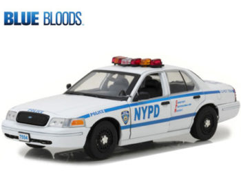 Greenlight 13513 Blue Bloods Jamie Reagan's 2001 Ford Crown Victoria Police Car NYPD 1:18 White