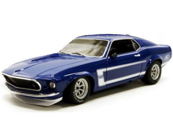 ACME A1801819 B 1969 Ford MUSTANG BOSS 302 TRANS AM Street Version 1:18 Blue