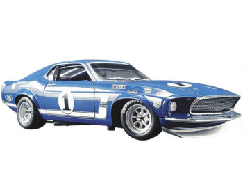 ACME A1801819 Team Shelby's 1969 Ford Mustang Boss 302 Trans Am #1 1:18 Sam Posey