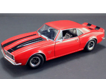 Acme A1805711 1967 Chevrolet Camaro 427 1:18 Red with Black Stripes