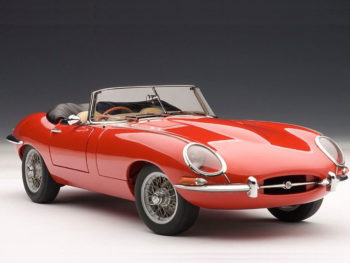 AUTOart 73601 Jaguar E Type Roadster Series 1 3.8 1:18 Red with Metal Wire Spoke