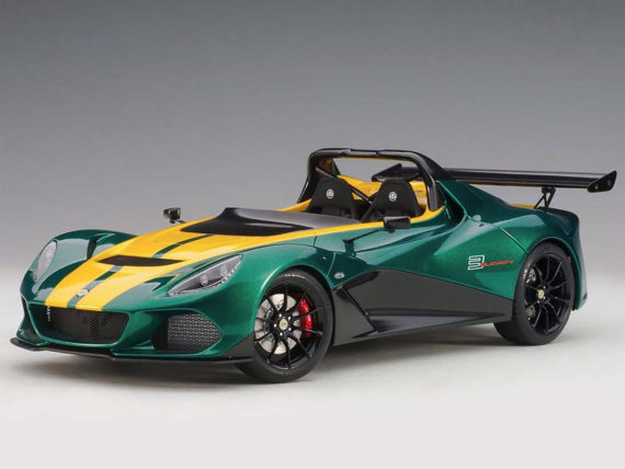 AUTOart 75392 Lotus 3-Eleven 1:18 Green with Yellow Accents