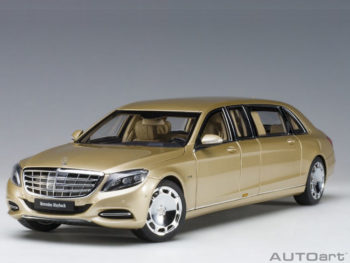 AUTOart 76298 Mercedes Benz Maybach S 600 Pullman Limo 1:18 Gold