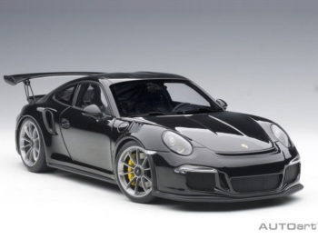 AUTOart 78164 Porsche 911 991 GT3 RS 1:18 Gloss Black with Black Wheels