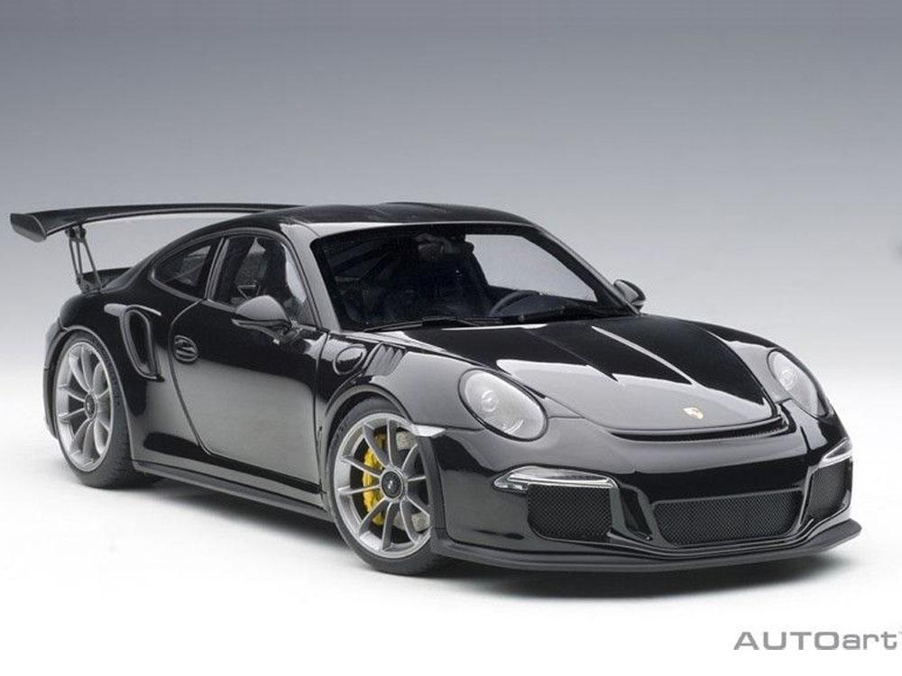 AUTOart 78164 Porsche 911 991 GT3 RS 118 Gloss Black with Silver Wheels