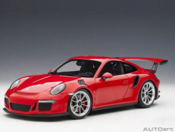 AUTOart 78165 Porsche 911 991 GT3 RS 1:18 Red with Silver Wheels