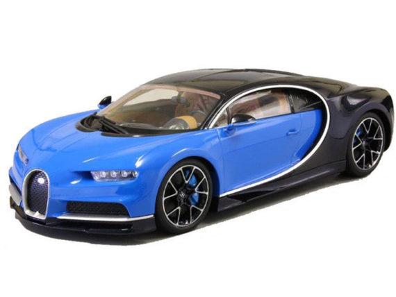 Kyosho C09548 BBK Bugatti Chiron 1:18 Black / Dark Blue Metallic