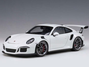 AUTOart 78166 Porsche 911 991 GT3 RS 1:18 White with Dark Grey Wheels