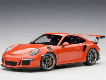 AUTOart 78168 Porsche 911 991 GT3 RS 1:18 Lava Orange with Dark Grey Wheels