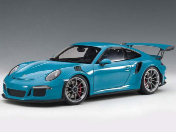 AUTOart 78167 Porsche 911 991 GT3 RS 1:18 Miami Blue with Dark Grey Wheels