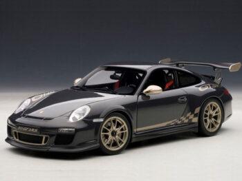 AUTOart 78142 Porsche 911 997 GT3 RS 3.8 1:18 Grey Black with White Gold stripes
