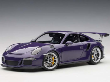 AUTOart 78169 Porsche 911 991 GT3 RS 1:18 Ultraviolet with Silver Wheels