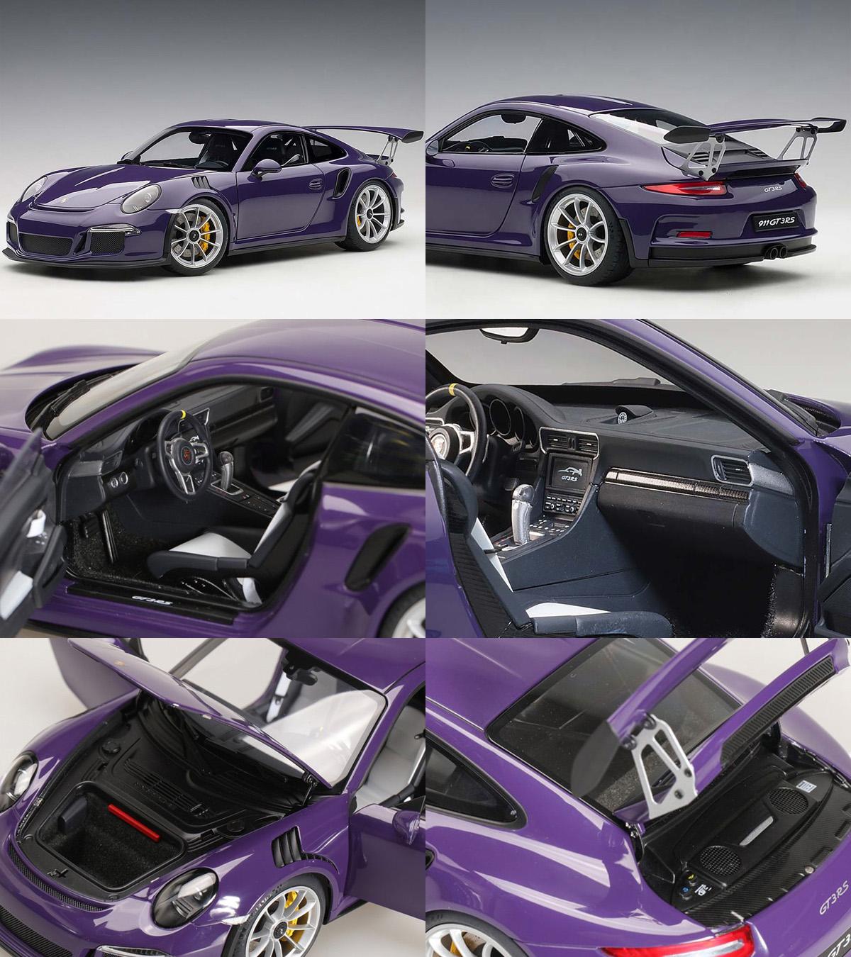 AUTOart 78169 Porsche 911 991 GT3 RS 118 Ultraviolet with Silver Wheels