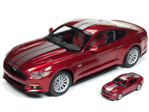 Autoworld Aw245 2017 Ford Mustang GT 1:18 with 1:64 Version Red