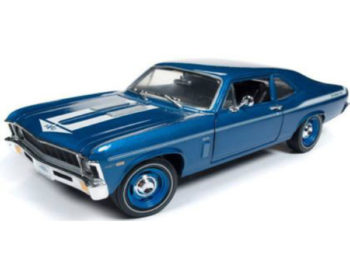 Autoworld Amm1135 1969 Chevrolet Yenko Nova 1:18 Blue