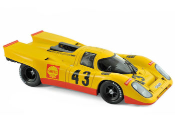 Norev 187585 Porsche 917K Shell #43 5th Place 1970 1000 KM Spa 1:18 Yellow
