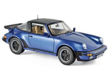 Norev 187663 1987 Porsche 911 Turbo Targa 3.3 1:18 Blue Metallic