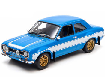 Greenlight 86222 Fast & Furious 6 Brian's 1974 Ford Escort RS 2000 MK1 1:43 Blue