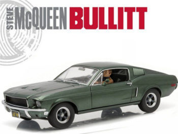 Greenlight 12938 V Bullitt 1968 Ford Mustang 1:18 with Sit Steve Mcqueen Figure Green