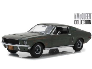 Greenlight 13523 Steve McQueen Collection 1968 Ford Mustang Gt Fastback 1:18 Unrestored Green