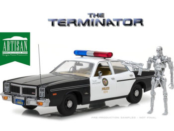 Greenlight 19042 The Terminator 1977 Dodge Monaco Police 1:18 with Sit T-800 Figure