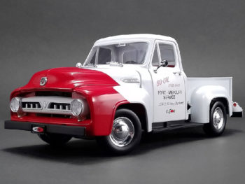 Acme A1807208 1953 Ford F-100 So Cal Speed Shop Push Truck 1:18 White / Red