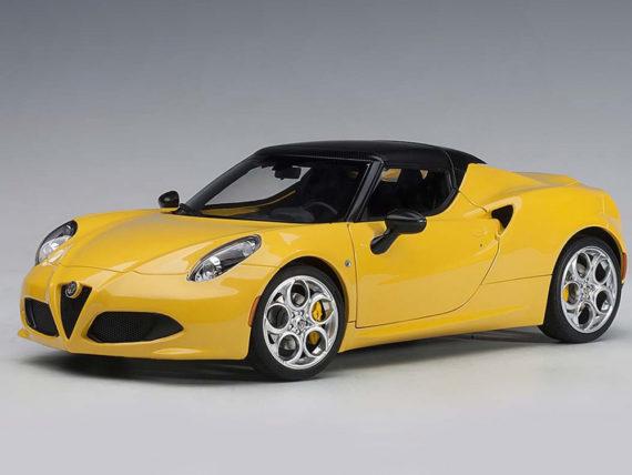 AUTOart 70143 Alfa Romeo 4C Spider 1:18 Giallo Prototipo / Yellow