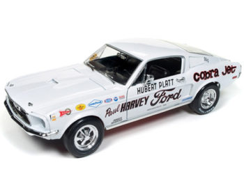 Autoworld Aw247 1968 Ford Mustang Cobra Jet Hubert Platt NHRA Super Stock 1:18 White