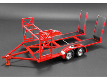 Gmp 18907 So Cal Speed Shop Tandem Car Trailer with Tire Rack For 1:18 Model Car Red