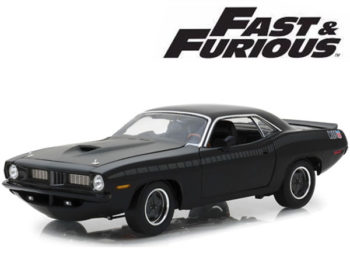 Highway 61 18005 Fast & Furious 7 Letty's Custom Plymouth Barracuda 1:18 Black