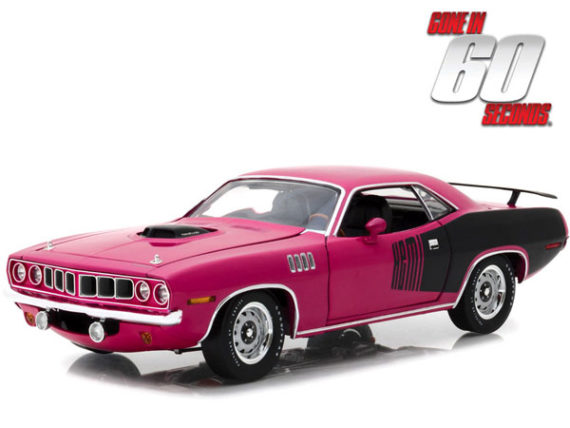 Highway 61 18010 Gone in 60 Seconds Shannon's 1971 Plymouth Hemi Cuda 1:18 Pink