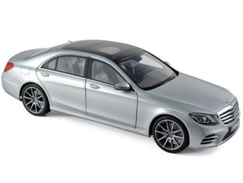 Norev 183479 2018 Mercedes Benz S Class AMG Line 1:18 Silver Metallic
