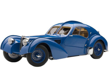 AUTOart 70942 1938 Bugatti 57SC 1:18 Atlantic Blue with Spoke Wheels