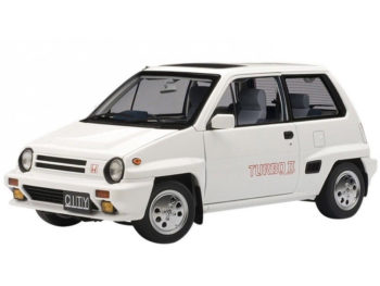 AUTOart 73282 Honda City Turbo II 1:18 White with Motocompo in Red